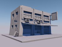 3D building gaming background model