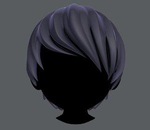 3D model boy hair