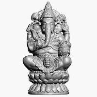 3D ganesha statue 2 raw