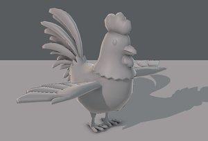base cartoon chick 3D