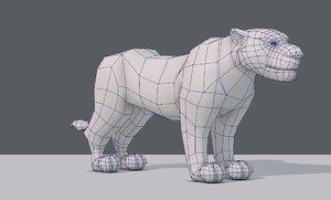 base tiger 3D model