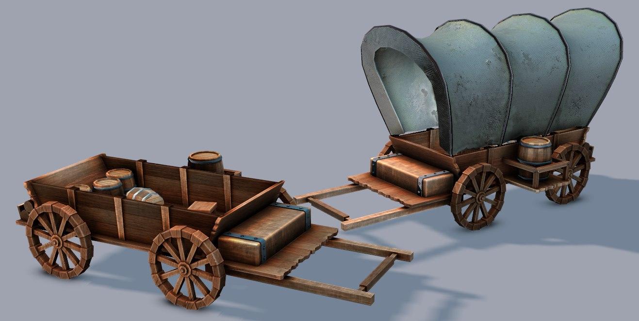 3D model car medieval