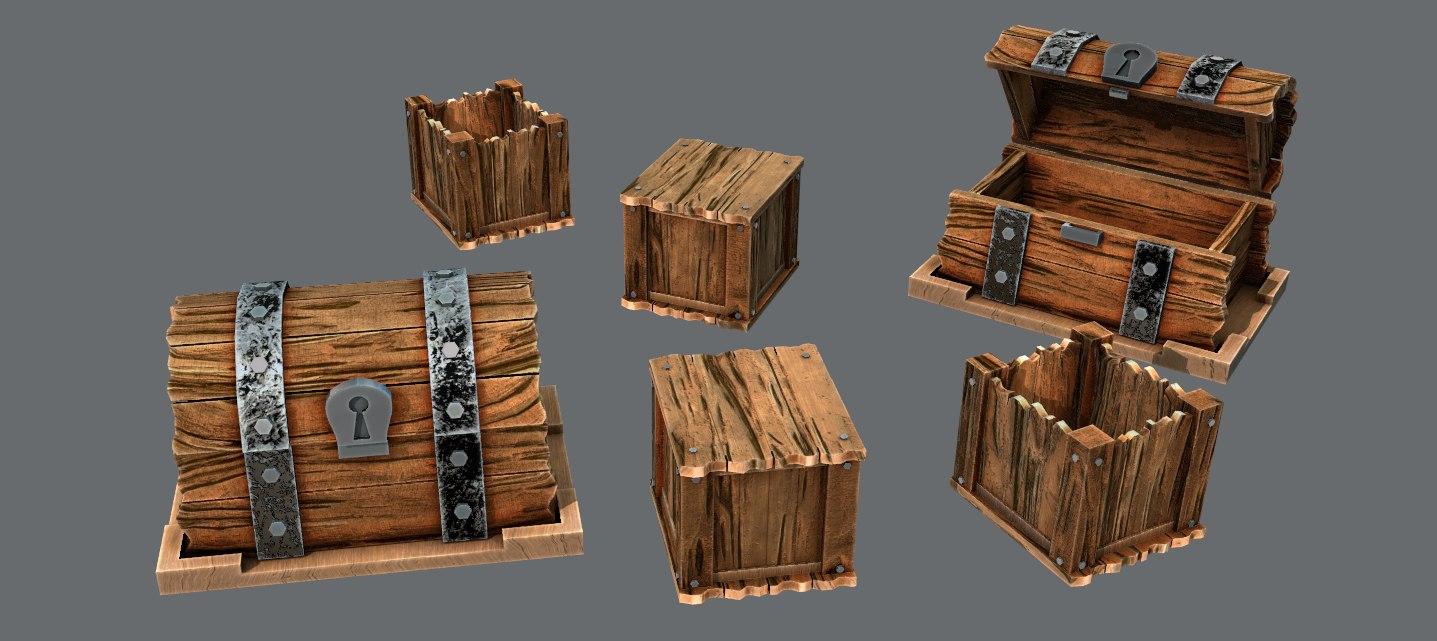 box chest 3D model