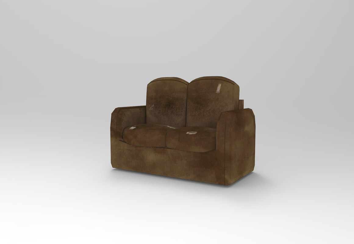 hand painted sofa 3D model