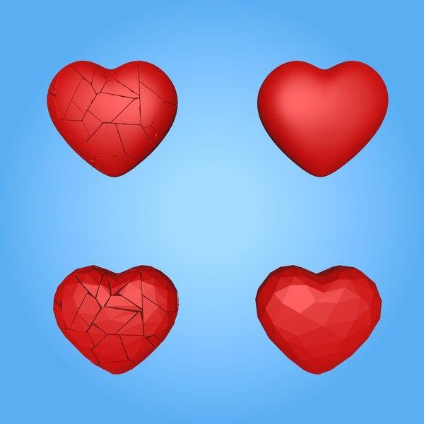 3D broken heart model