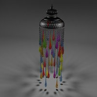 3D model arabic colorful lantern
