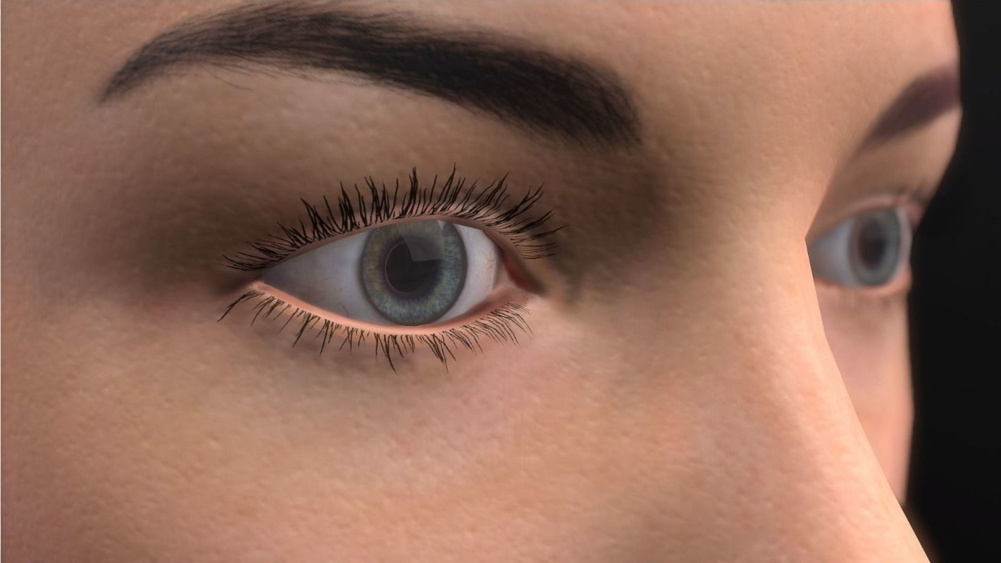 eye realistic modeled model
