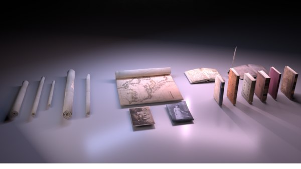 papers books pack - 3D model