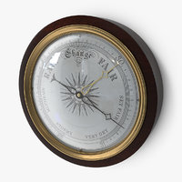 antique barometer 3D model