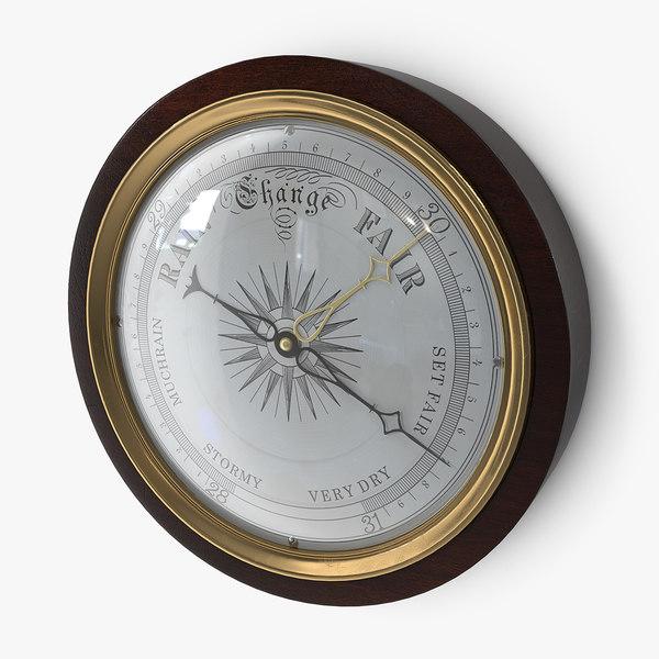 antique barometer 3D model