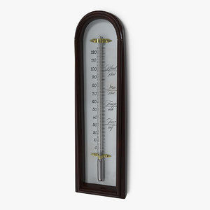 3D antique thermometer