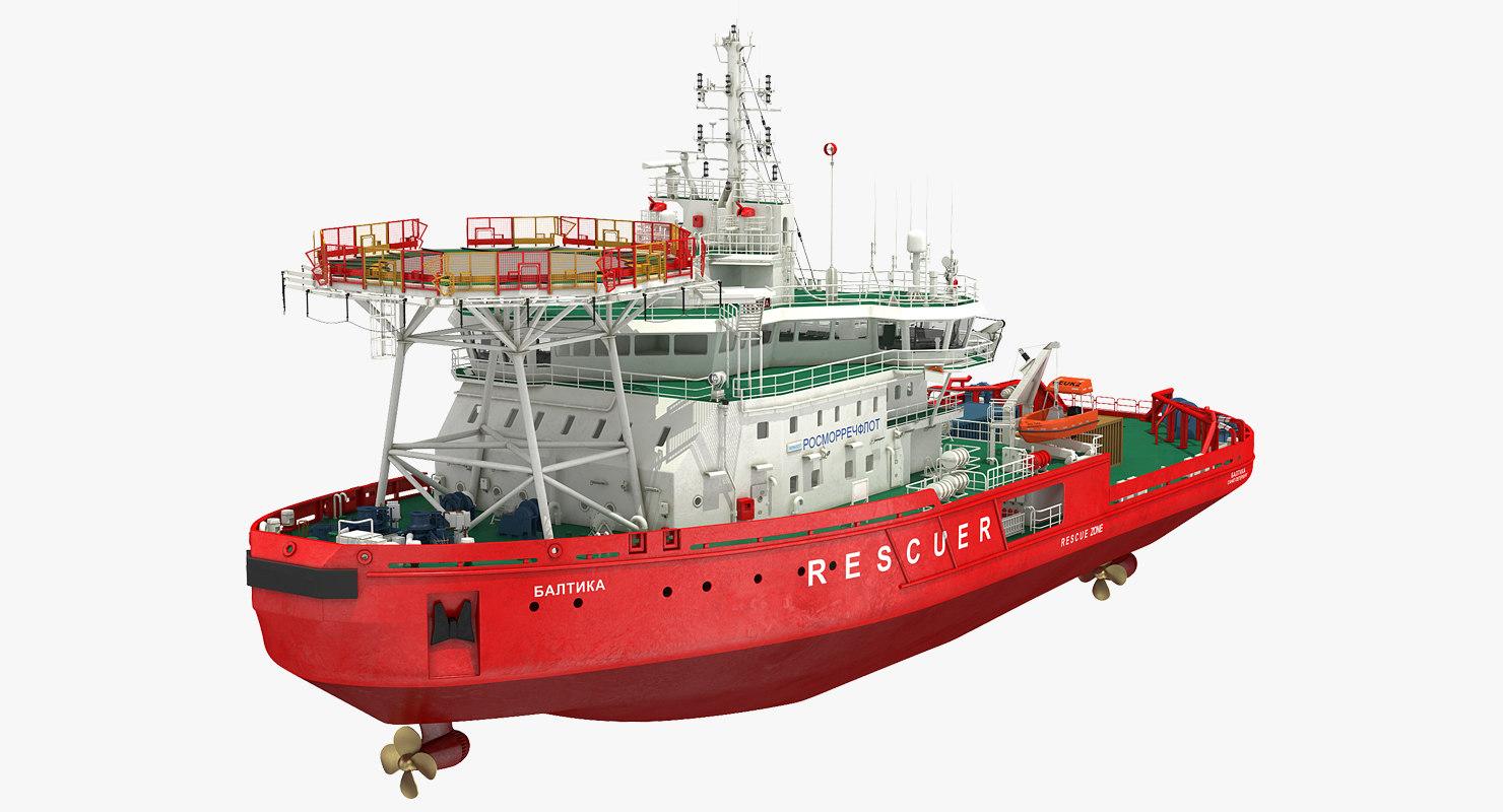 asymmetric icebreaker baltika oblique 3D