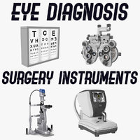 Eye Diagnosis and Surgery Instruments Collection