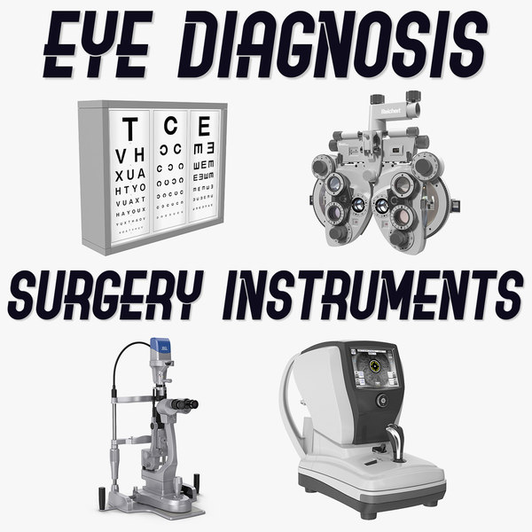 eye diagnosis surgery instruments 3D model