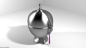 3D bowl trophy model