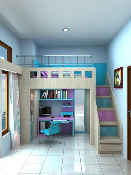 3D child bedroom