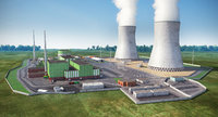 power plants 3D model