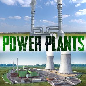 power plants 3D model