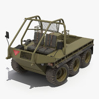 supacat alvis military green 3D model