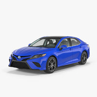 3D model toyota camry 2018 rigged