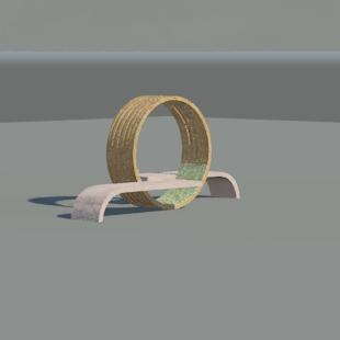 design outdoor seating 3D model