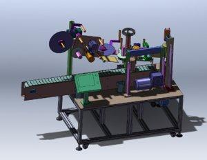 3D model labeling machine
