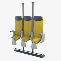 standing airplane seat 3D model