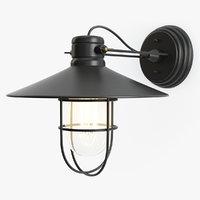 3D vintage industrial pendant wall lamp model