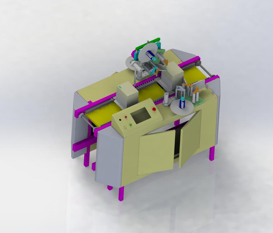 packaging box labeling machine 3D model
