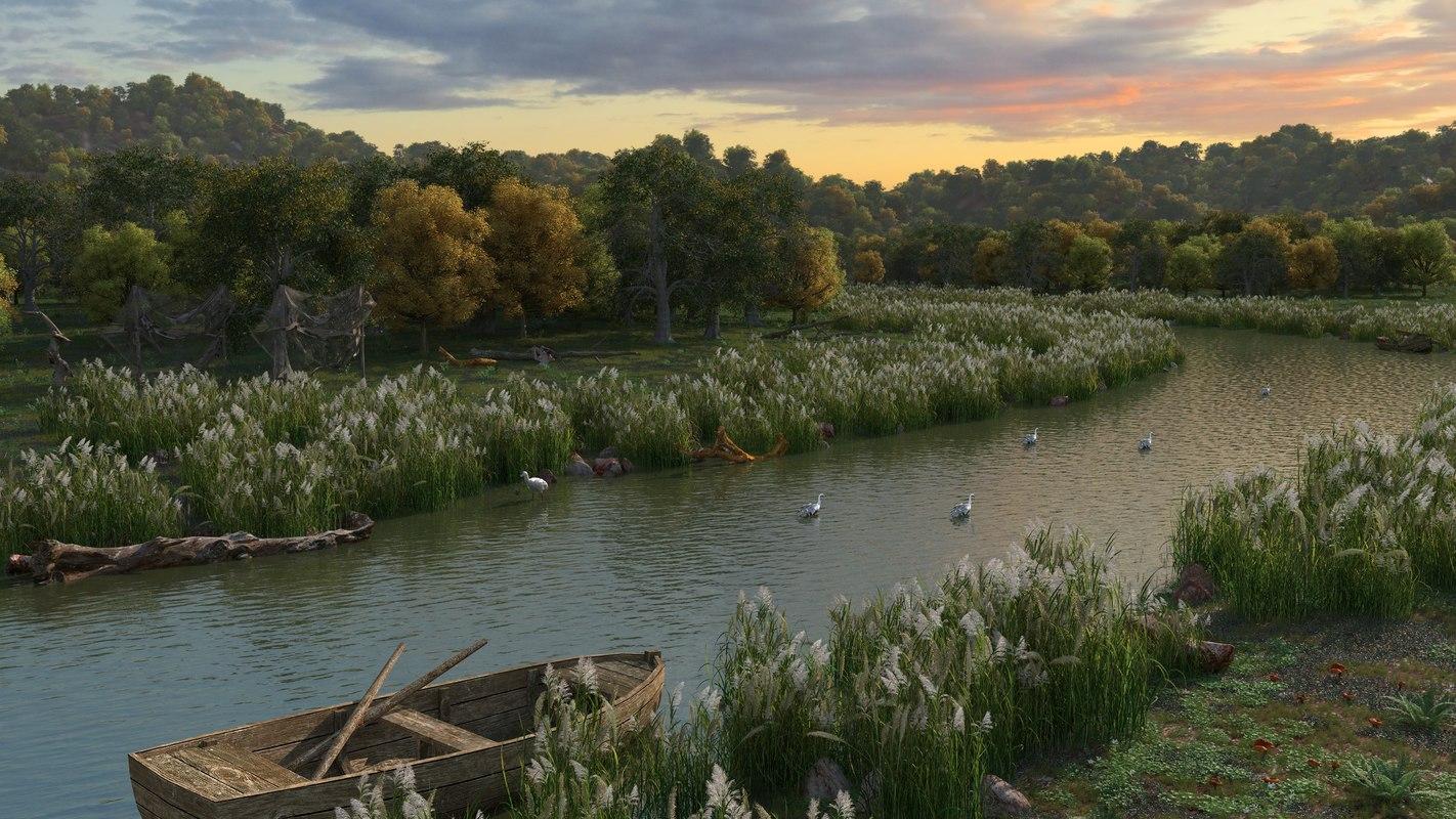 wetlands 3D model