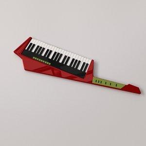3D keytar model
