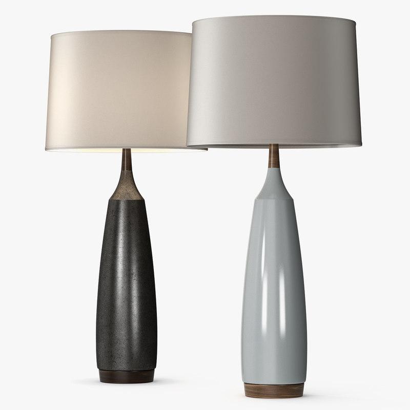3D model laurel lamps stone sawyer