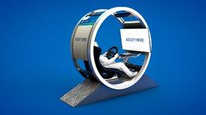 3D racing simulator gt