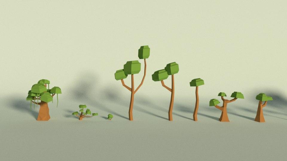 stylized tree 3D