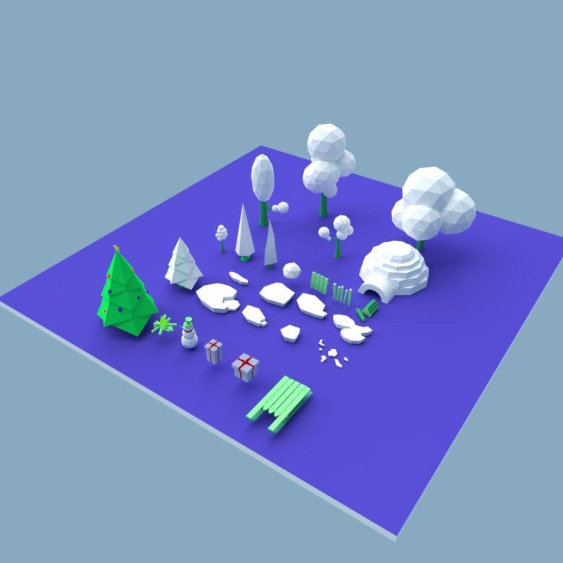 set winter 3D model