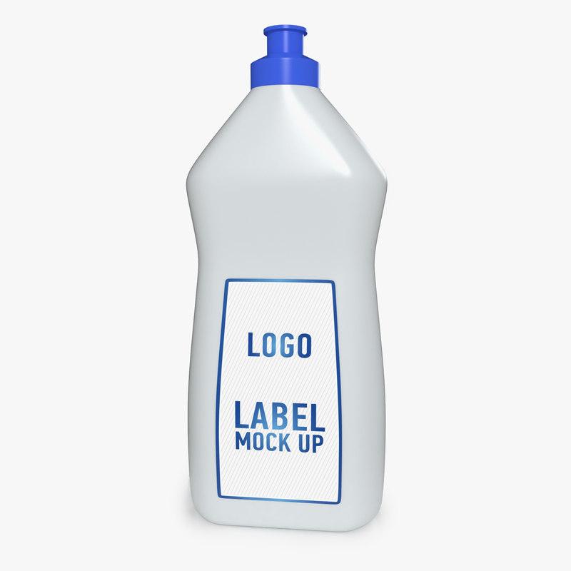 cleaner plastic bottle 3D