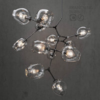 3D branching bubble 12 lamps model