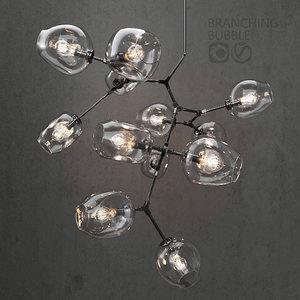 3D branching bubble 12 lamps model