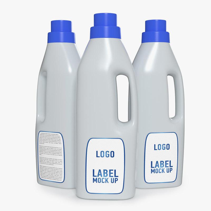 3D toilet cleaner bottle