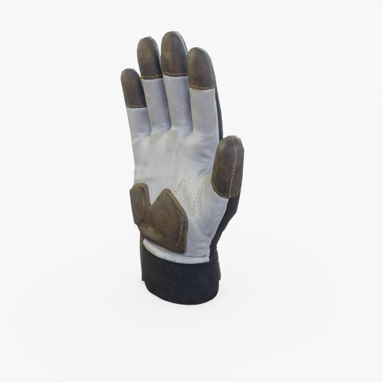 3D american gloves football