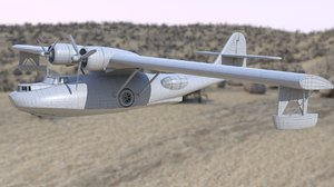 3D model consolidated pby catalina flying