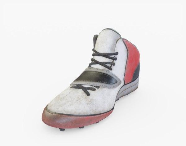 football american boots 3D model