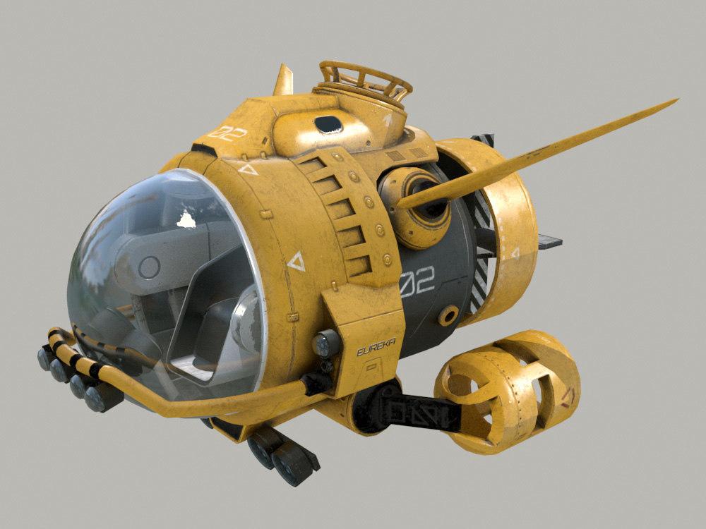 submarine dunker science 3D