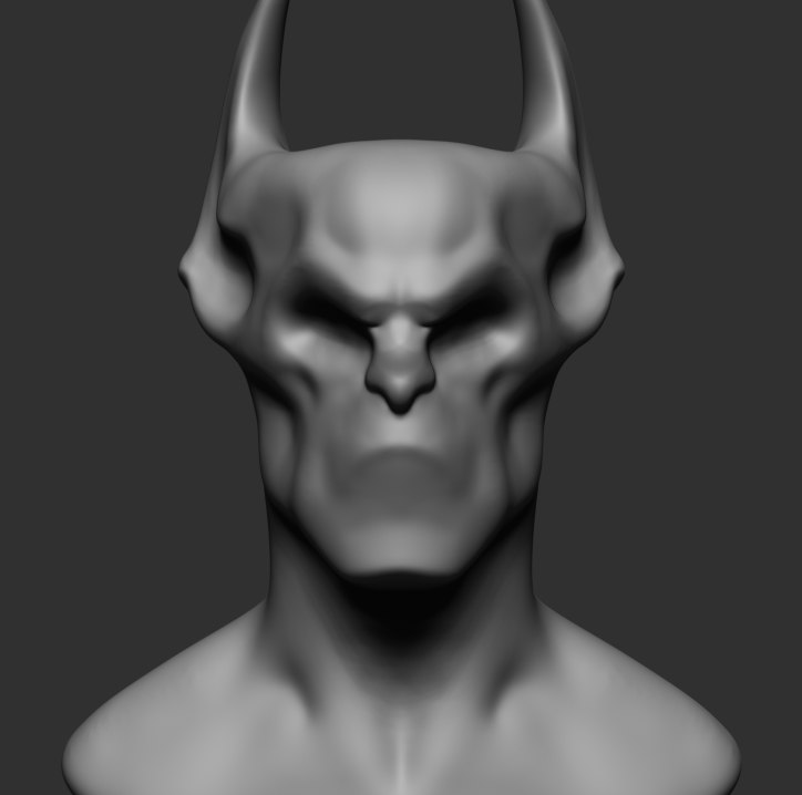 3D creature head reference model