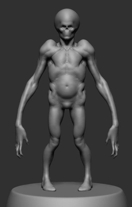 creature body form 3D model
