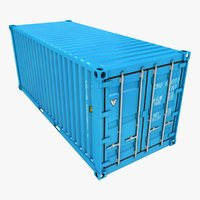 3D container 20ft azure model