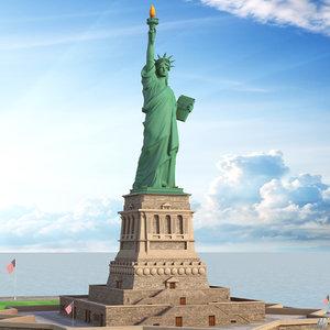statue liberty new york model