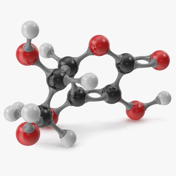 3D ascorbic acid molecular