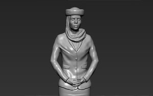 3D emirates airline stewardess ready model