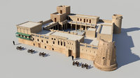 3D model fort sharjah